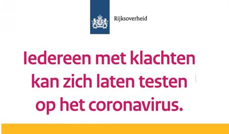Iedereen testen op coronavirus